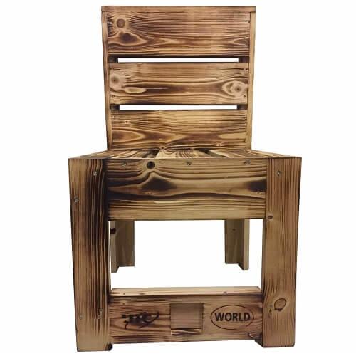 """Palettenmöbel Stuhl """"TARAVAO"""" aus ippc zertifiziertem Europalettenholz, jedes Teil ist einzigartig und wird in Deutschland in Handarbeit gefertigt"""
