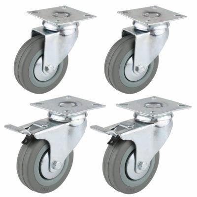 Transportrollen mit Bremse für Europaletten-Möbel