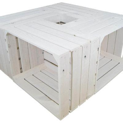 Europaletten-Tisch weiß